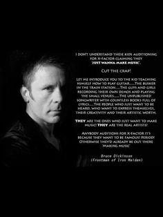 Iron Maiden singer on making music - Imgur