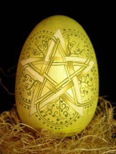 Spring Equinox:  Pentagram Egg.