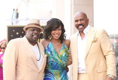 LR Cedric the Entertainer Wendy Raquel Robinson and Steve Harvey attend the ceremony honoring Steve Harvey with a Star on The Hollywood Walk of Fame...
