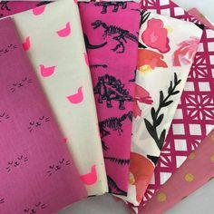 Girly Pink Yardage Bundle by Bobbie Lou's Fabric Factory