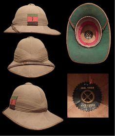 Pith Helmet of the Battalion The Tank Corps British Army Uniform, British Uniforms, Military Costumes, Military Uniforms, Pith Helmet, Steampunk Men, Safari, Steampunk Accessories, Military Equipment