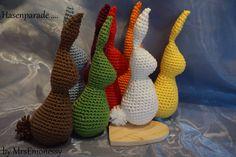 Oster Hase für euch von mir viel spaß damit lg vanessa :-) nadelstärke 2,5 mm wolle cottone von lana grossa die hasen können in unterschiedlichen größen herg...