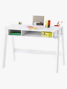 Kinderschreibtisch weiß  Eckschreibtisch Schreibtisch Computertisch LENA, in weiß mit Regal ...