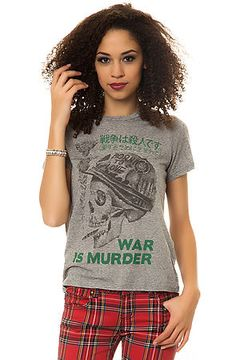 The War Is Murder Back Alley Tee in Heather Gull by Obey use rep code: OLIVE for 20% off!