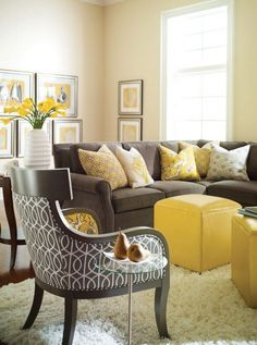 Yellow And Gray Rooms House Ideas Living Room Grey Home Decor