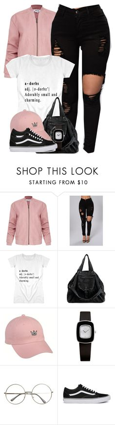 """""""Crown me King."""" by cheerstostyle ❤ liked on Polyvore featuring Helmut Lang, Jérôme Dreyfuss, ELLE Time & Jewelry and Vans"""
