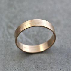 Herren Gold Ehering Unisex 5 mm Breite gebürstete von TheSlyFox