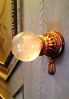 Custom knob by P.E. Guerin for Howard Slatkin