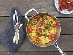 LCHF-morgenmad: Nem og lækker omelet fyldt med grøntsager --> Madbanditten.dk