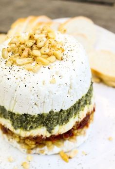 Goat Cheese, Pesto, and Sun-Dried Tomato Terrine | TheFoodCharlatan.com