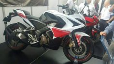 White Bajaj Pulsar RS200