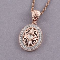 Marropino Morganite, Cambodian Zircon RG Over Sterling Silver Pendant With Stainless Steel Chain in) Total Gem Stone Weight Carat Morganite Jewelry, Stone Weight, Stainless Steel Chain, Sterling Silver Pendants, Rose Gold, Pendant Necklace, Gemstones, Gems, Gem