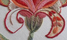 Crewel Embroidery | WIP second large petal still to do... | Anna Scott | Flickr