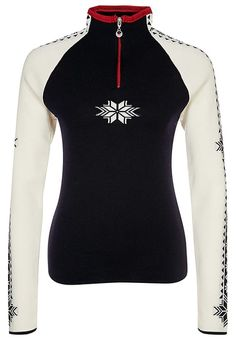 Dale of Norway GEILO - Jumper - navy/off white/raspberry
