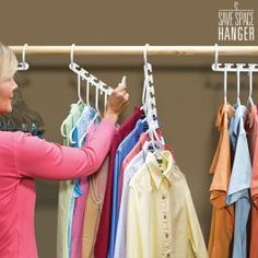 Buy space-saving multi hanger at the best price. The space-saving multi hanger is designed to save space in your wardrobe. The space-saving multi hanger is an intelligent space-optimisation system. The space-saving multi hanger consists of several. Organiser Son Dressing, Heavy Winter Coat, Winter Coats, Space Saving Hangers, Shop Story, Closet System, Closet Space, Cool Things To Buy, Stuff To Buy