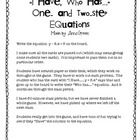 I Have Who Has (1 and 2 step equations)