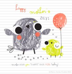 This image is adorable! Baby Illustration, Character Illustration, Graphic Illustration, Illustration Styles, Pretty Birds, Kids Prints, Little Birds, Cute Characters, Mail Art