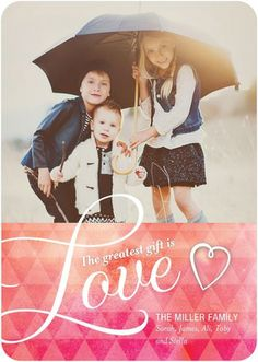 Blissfully Bestowed - Valentine's Day Photo Cards in a gorgeous Fuchsia Pink