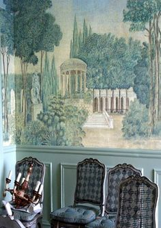 IKSEL decorative arts .:. Projects / Custom Printed Rooms Belgian Pearls, Scenic Wallpaper