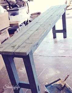 how to build a farmhouse table that can be disassembled.