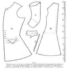 Pattern for a sleeved Waistcoat, 1715-1730 from Leloir