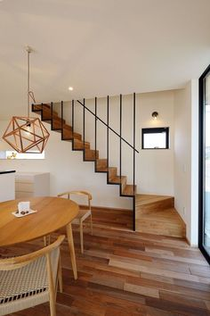 51 New Modern Staircase Ideas For Wonderful Home - Modular Staircase, House Staircase, Staircase Ideas, Stairs To Mezzanine Floor, Brick Cafe, Cottage Stairs, Stair Railing Design, Railings, Modern Stairs