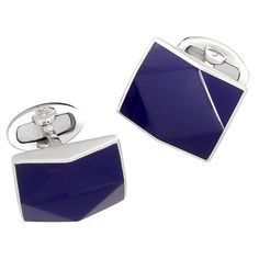 Jan Leslie Gemstone Rectangular Cufflinks with Diamond Texture