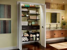 Give Your Bathroom An Elegant Look With Adjustable Functionality From ClosetMaidu0027s  ShelfTrack Elite.