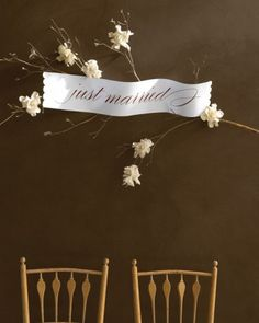 """See the """"Just Married Sign"""" in our Templates for Wedding Decorations gallery"""