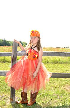 My Creative Way: The Colors of Fall Flower Girl Dress