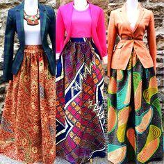 African print skirt and blazer African Inspired Fashion, African Print Fashion, Africa Fashion, Fashion Prints, African Prints, African Fabric, African Dresses For Women, African Attire, African Wear