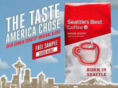 FREE Seattle's Best House Blend Ground Coffee sample! (First 150,000!) - Raining Hot Coupons