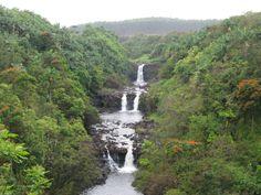 Waterfalls on the Big Island of Hawaii