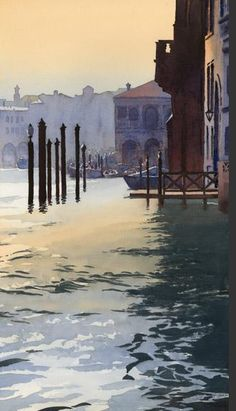 Venice, watercolor // by Michael Reardon