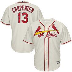 Matt Carpenter St. Louis Cardinals Majestic Cool Base Player Jersey - Cream