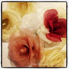 Silk Flower Making Three Class Course Rose Online, Flower Making, Silk Flowers, Seasons, London, Embroidery, How To Make, Roses, Crafts
