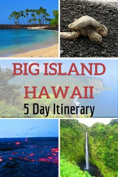 Free in-depth sample itinerary for 5 days on the Big Island of Hawaii. Get useful tips, the top things to do on the Big Island & lots more. Hawaii Vacation Rentals, Hawaii Destinations, Honeymoon Vacations, Hawaii Honeymoon, Vacation Travel, Holiday Destinations, Dream Vacations, Vacation Spots, Vacation Ideas