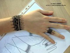 henna wrist