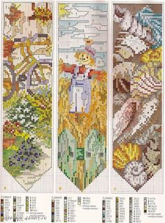 Single Patterns Cross Stitch (page Fall Cross Stitch, Cross Stitch Books, Cross Stitch Bookmarks, Cross Stitch Borders, Counted Cross Stitch Patterns, Cross Stitch Charts, Cross Stitch Designs, Cross Stitching, Cross Stitch Embroidery