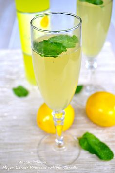 Meyer Lemon Prosecco with Limoncello - Mother Thyme