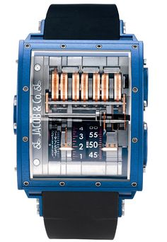 Jacob & Co швейцарские часы The Quenttin Blue Magnesium - мужские наручные часы  - черные, синие