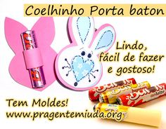 Coelhinho porta 'baton' de chocolate | Pra Gente Miúda