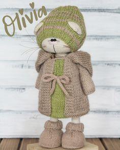 by Isaeva Ekaterina Amigurumi Patterns, Amigurumi Doll, Knitting Patterns, Crochet Patterns, Crochet Rabbit, Crochet Bunny, Knitted Dolls, Crochet Dolls, Crochet Supplies