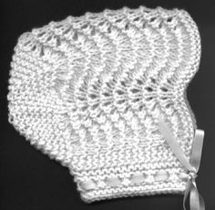 A Free baby knitting pattern for this precious and elegant baby bonnet