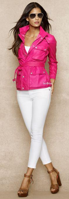 Blue Label Belted Leather Jacket ♥