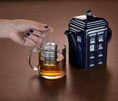 Would you like some tea?  (With this TARDIS Tea Infuser you can have 5 o'clock anytime in any dimension)