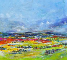 ORIGINAL SOLD - 'Before it gets too late' Oil on canvas, 500x550mm. Landscape abstract, using palette knife