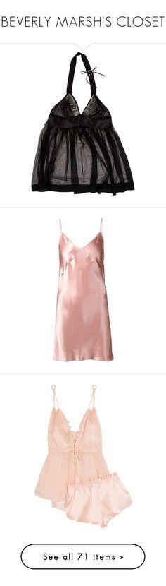 """BEVERLY MARSH'S CLOSET"" by v-egaslights ❤ liked on Polyvore featuring black, la perla, intimates, shapewear, dresses, lingerie, underwear, pink, sleepwear and pajamas"