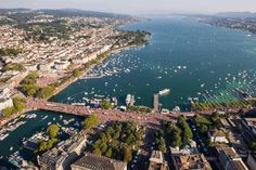 Street Parade and Lake Zurich