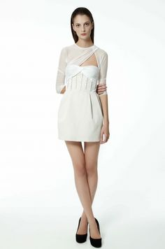 White Bustier dress by Carven 2010, if I believed in marriage this would be my dress
